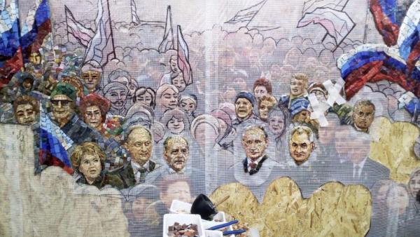 Храм Вооружённых сил теперь может похвастаться оригинальной мозаикой. Церковь украсят Путиным и Матвиенко
