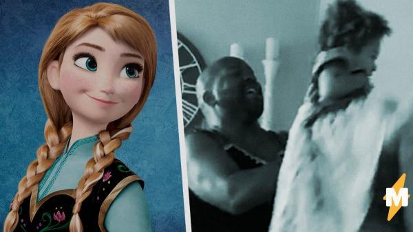 """Мужчина перевоплотился в принцессу из """"Холодного сердца"""" ради маленькой дочери. Косплей помог стать батей года"""