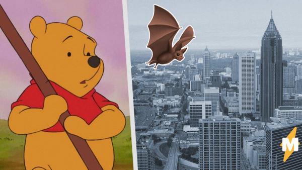 В Атланте появился арт с Винни-Пухом, который ест летучую мышь. И всё это - жёсткий троллинг Китая