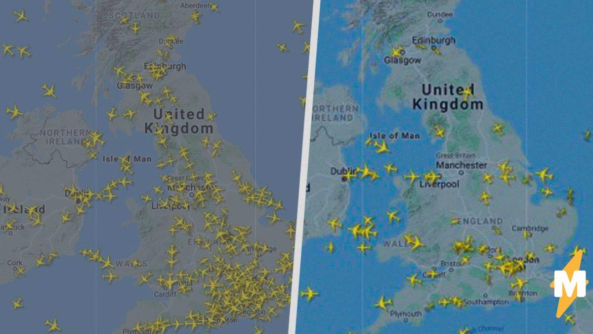 Небо Великобритании осталось без самолётов. И очистилось настолько, что в него вернулись военные