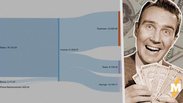 Юзер показал график трат и распределения средств на год. Но людей волнует только то, что он не покупал трусы