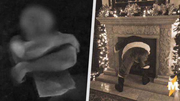 Вор решил забраться в дом через трубу и повторил трюк Санта-Клауса. Полиция удивилась, увидев, что он натворил
