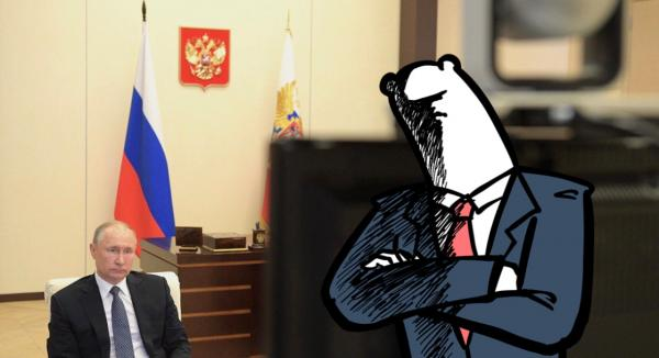 Люди всмотрелись в костюмы Путина, и им уже не смешно. Теперь обращения президента вызывают ещё больше тревоги