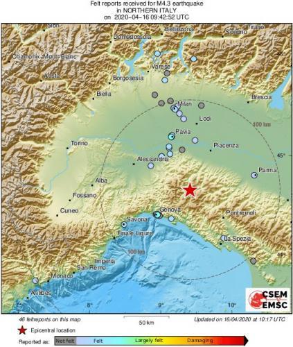 В итальянском эпицентре коронавируса произошло землетрясение. Как будто жителям ещё не хватало страданий