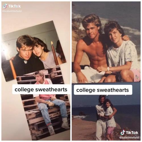 Тиктокерша показала, с кем её мама встречалась в колледже. И теперь не уверена, что её отец не Бред Питт