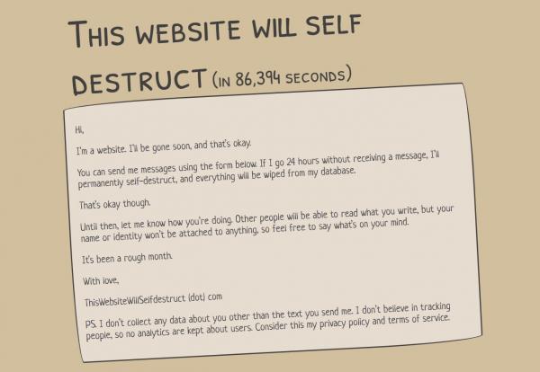 Появился сайт, грозящийся самоуничтожится, если на нём перестанут оставлять посты. И люди в восторге