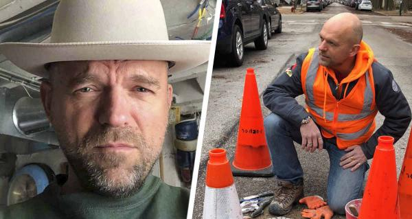 Мужчина хотел привлечь внимание к дорожным ямам и перестарался. Он создал из них шедевры, что жалко уничтожать