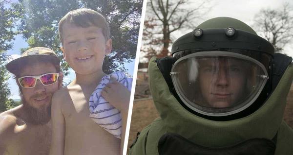 Малыш нашёл черепашку, а отец его отругал. Но он не злой, просто это животное могут погладить только сапёры
