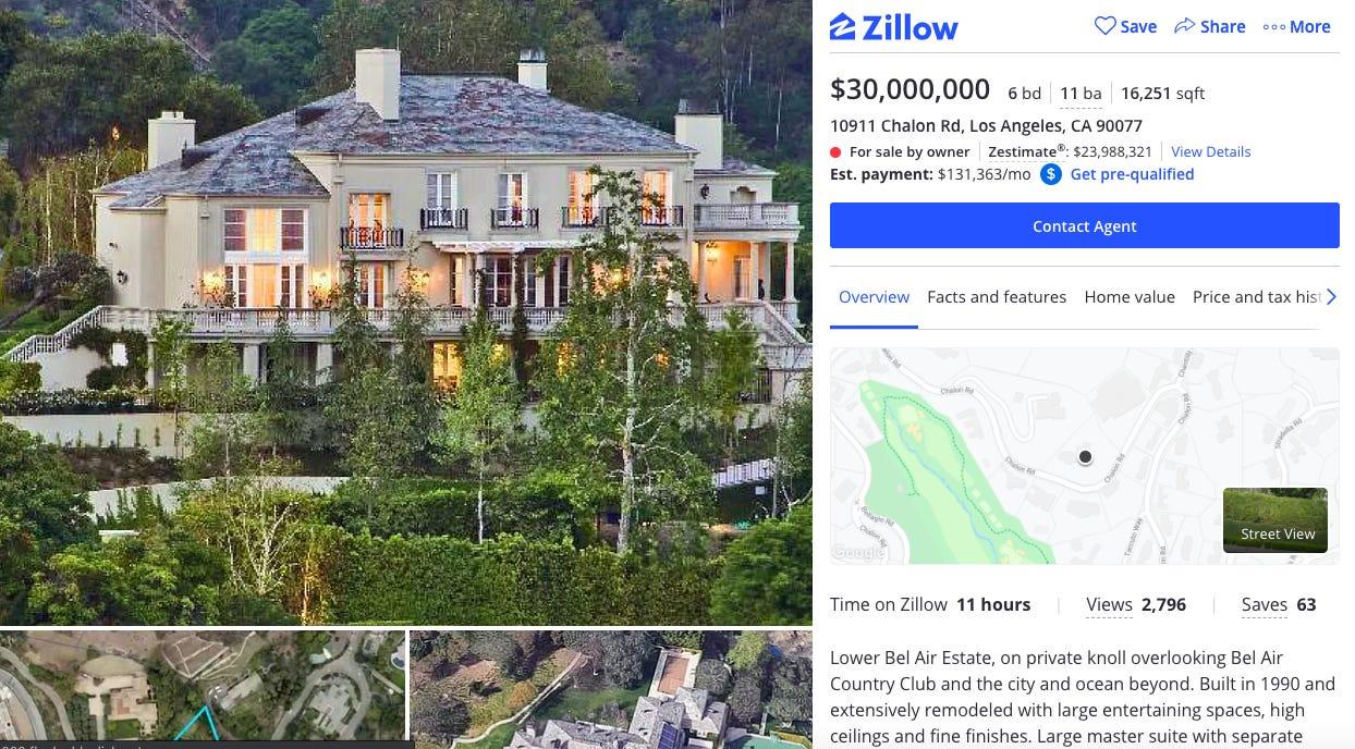 Илон Маск сдержал слово – он выставил на продажу свои дома в Лос-Анджелесе. И уже готовится к переезду на Марс