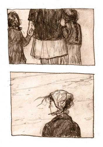 Художница превратила военное воспоминание бабушки в мини-комикс. И три кадра вызвали у людей настоящую боль