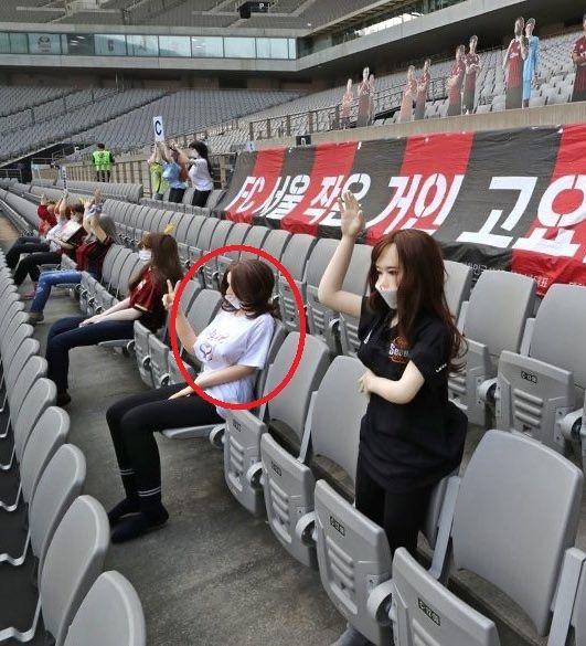 Футбольный клуб в Сеуле извинился за странных болельщиков. Выглядят они отлично, но на фанатов спорта не тянут