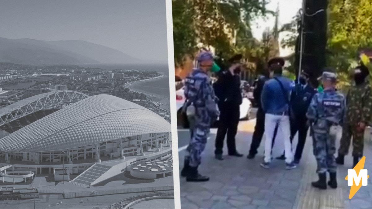 Житель Сочи на видео заставил ходить по струнке целый отряд полиции. Они даже забыли, что он нарушил карантин