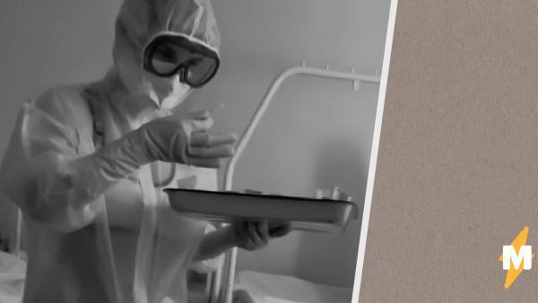 Медсестра из Тулы надела бикини под прозрачный костюм защиты. На фото выглядит нелепо, но на то были причины