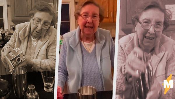 Бабуля забрала у внука TikTok-аккаунт и пилит адовый контент - учит подростков мешать водочный «Карантини»