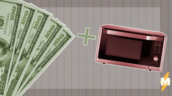 Американец дезинфицировал сбережения, но перестарался. Микроволновка + $800 = фейл, на который больно смотреть