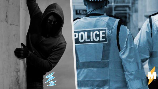 Преступник спрятался от копов, но его укрытие выдали попа и громкий хлопок. Да, хлопал он совсем не в ладоши