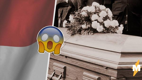 Люди увидели индонезийские похороны и пришли в ужас. Похоже, человека на них хоронят заживо, ведь он двигается