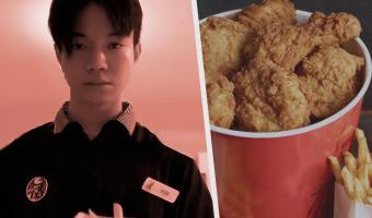 Тиктокер показал, каково работать в KFC. И это 10 секунд боли и смеха для каждого, кто пробовал фастфуд