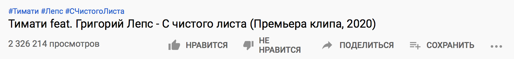 На новый клип Тимати на YouTube обрушились тысячи дизлайков. Но у рэпера готов проверенный способ это исправить