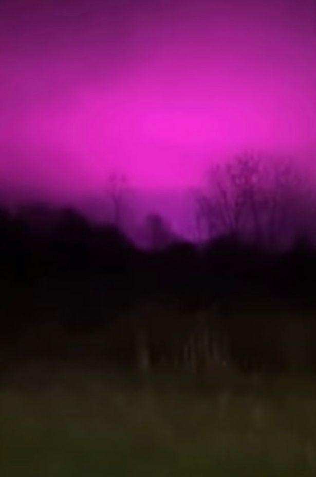 Девушка сняла пурпурное ночное небо, и люди подумали об НЛО. Но правда оказалась очень забавной и приземлённой