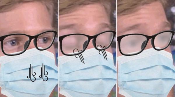 Девушка показала, как носить маску, чтобы очки не запотевали. Всё гениальное просто - и маникюрщицы это знают