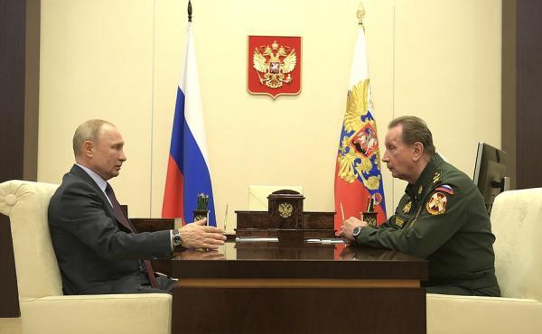 """Попасть на приём к Путину в карантин удаётся только силовикам. В этот раз """"в бункер"""" приехал глава Росгвардии"""