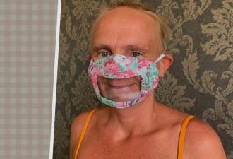 Британка придумала свой дизайн маски, и её забросали заказами. Такое необычное решение облегчает жизнь многим