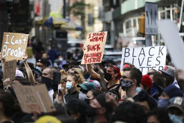 Вместе с протестантами в США на митинги вышла лама.