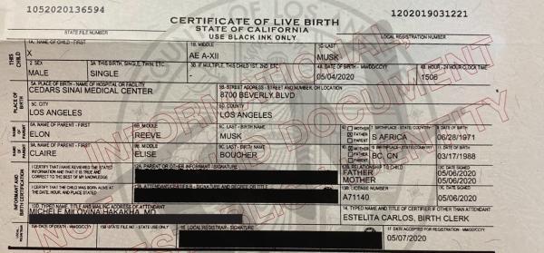 Сын Илона Маска и Граймс сохранил цифры и знаки в имени, но теперь он не X Æ A-12. Родители пошли на хитрость