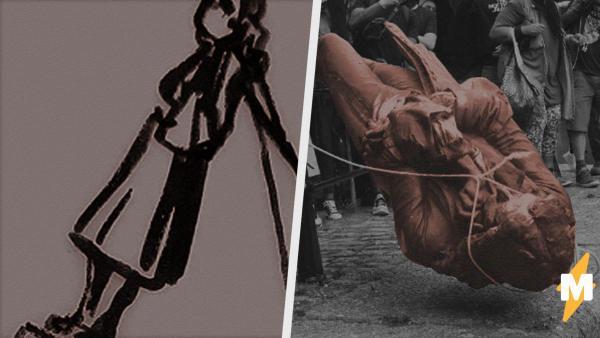 Активисты снесли статую работорговца в Бристоле. Бэнкси предложил им альтернативу – первый памятник протестам