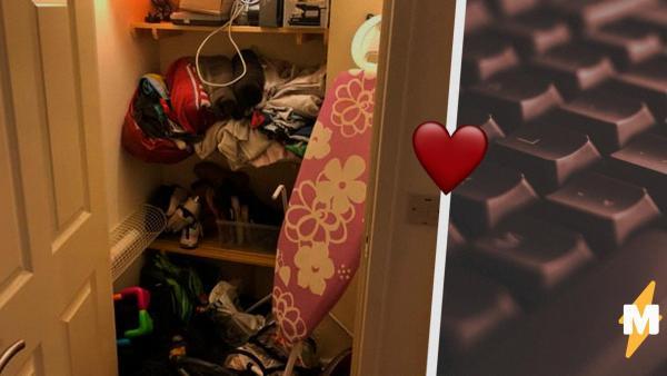 Девушку утомил её парень-геймер и она отправила его в шкаф. Но сделала это так, что в Сети парню позавидовали