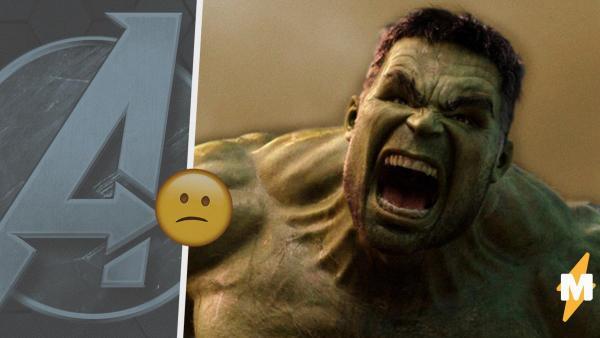 """Халк, скрывающий боль. Фаны увидели кадр с супергероем в игре по """"Мстителям"""" и разочаровались"""