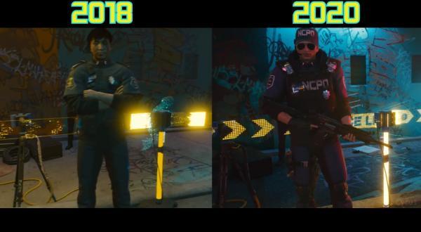 Люди провели параллели между трейлерами Cyberpunk 2077 2018 и 2020 годов. В будущем место найдётся не всем