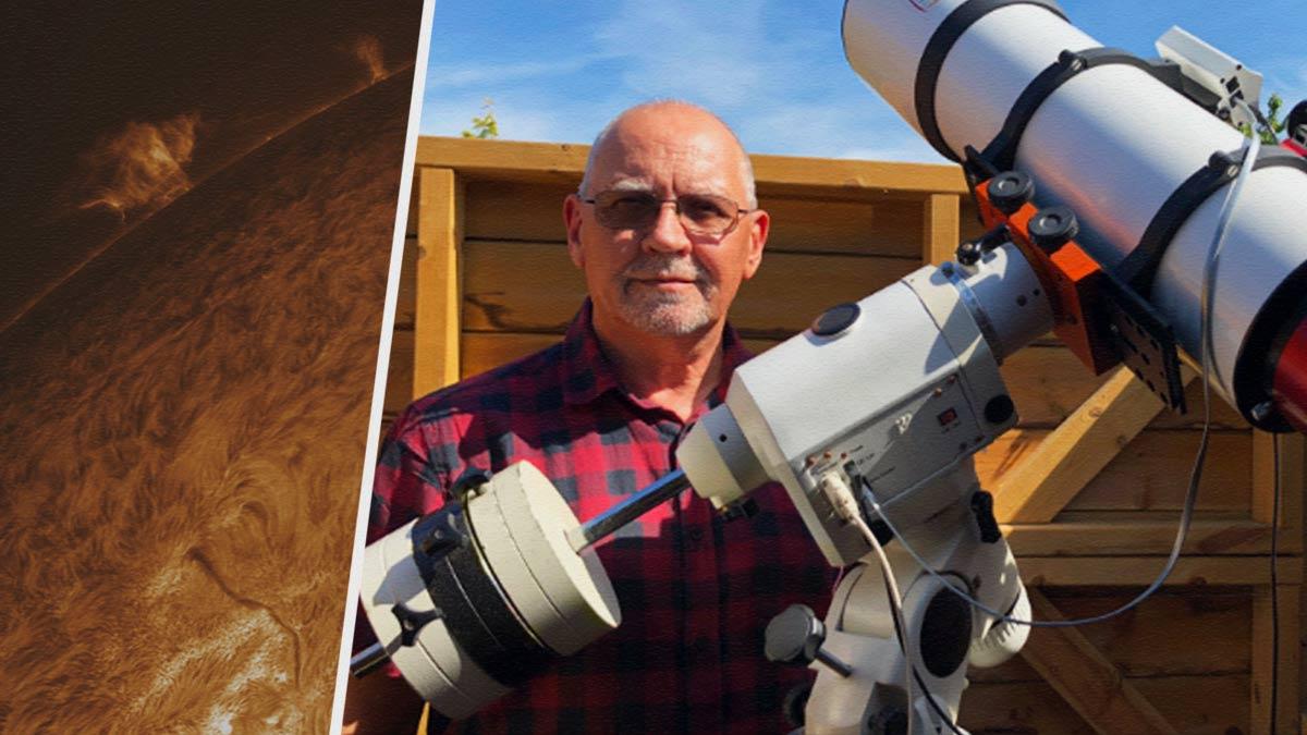 Мужчина постоянно отправляется к Солнцу и делает его детальнейшие фото. Но не из космоса, а у себя дома