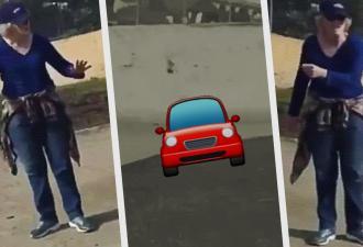 Дети сели за руль без прав, ужаснув прохожую. Но закон не нарушен – достаточно посмотреть, что это за авто