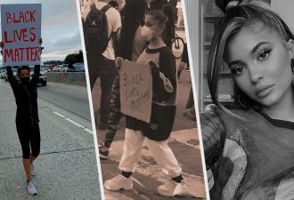 Звёзды вышли на протесты в США, и для людей они теперь - герои. Зато Кайли Дженнер достаётся хейт