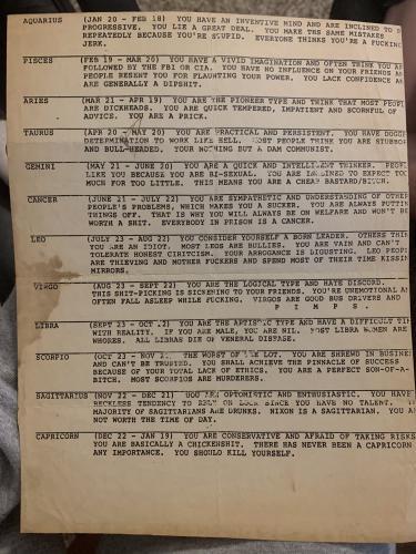 В Сеть попал гороскоп 1979 года и произвёл эффект разорвавшейся бомбы. Ведь он не только точный, но и честный