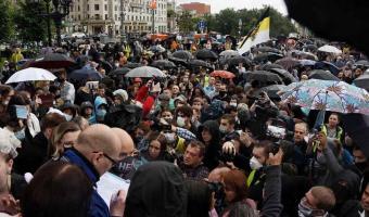 В Москве и Санкт-Петербурге проходят митинги против поправок в Конституцию. Начались первые задержания