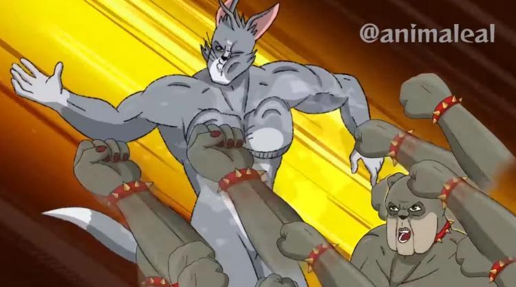Умелец превратил Тома с Джерри в персонажей аниме. И это прощание с детством, а кота жалко больше, чем обычно