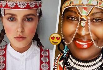 Девушки со всего мира покрасовались в TikTok национальными нарядами. Но русских фанаток заинтересовали их зубы