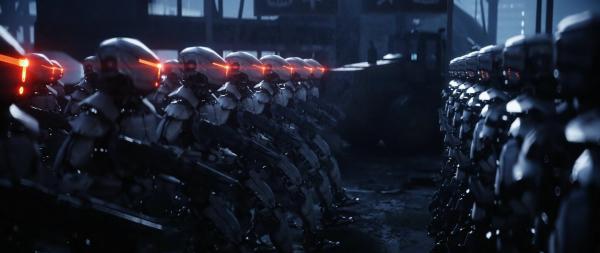 Роботы Boston Dynamics маршем прошли по опустевшим трибунам под криповую музыку. Это - будни бейсбола в Японии