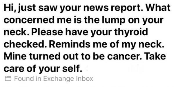 Эфир журналистки спас ей жизнь - спасибо зрителям, поставившим диагноз. И вам тоже стоит взглянуть на свою шею