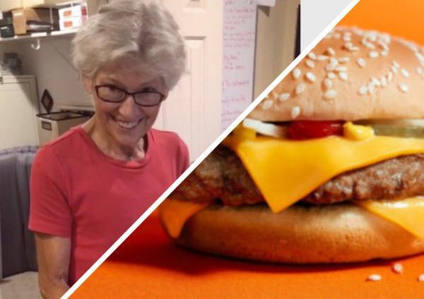 Старушка 24 года хранила бургер. Увидев идеальные хлеб и котлету на видео, люди перехотели обедать фастфудом