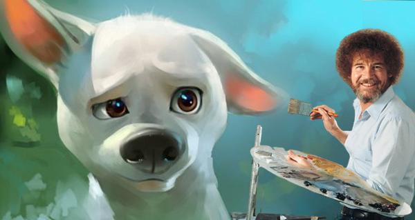 Это Чубака или Боб Росс? Нет, человекоподобный пёс, который видел некоторые вещи и станет твоим любимым мемом