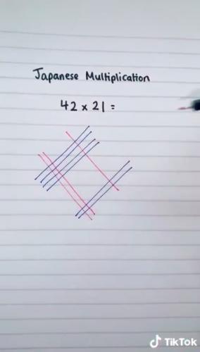 Как умножают числа в Японии - спойлер: очень красиво. Забудьте о столбиках, всё намного проще, чем кажется
