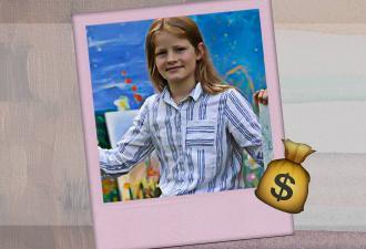 Десятилетка попробовала рисовать и заработала 5 миллионов. Посоревноваться с её талантом мог только Клод Моне