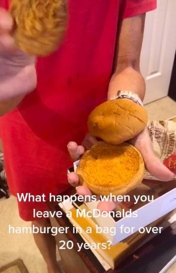 Как выглядит гамбургер из Макдоналдса 1996 года. Бабуля хранила его 20 лет и узнала о рецепте бутерброда всё