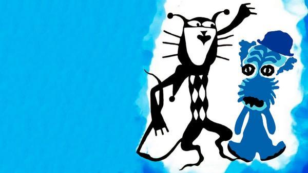 """Это не пришелец с Нибиру, а пёс, угодивший в синюю краску. Премия """"самый мемный собачий фейл"""" теперь - его"""