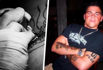 Скромный парень решил набивать тату раз в три месяца. Через 17 лет его не узнать — но, главное, мама не против