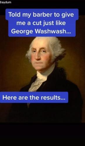 Блогер захотел стрижку, точь в точь как у Джорджа Вашингтона. И доказал: что можно в 1799 году нельзя в 2020